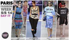 Paris Fashion week, spring trends 2014 Say IT