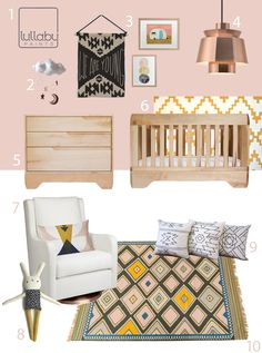 My Modern Nursery 88 Summer Coral by Buy Modern Baby. Pink without being too girly.