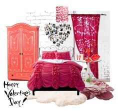 """""""Valentine's Room"""" by synkopika ❤ liked on Polyvore featuring interior, interiors, interior design, home, home decor, interior decorating, Magical Thinking, WALL, Xhilaration and Seletti"""