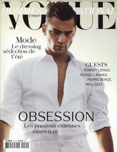 Sean O'Pry for Vogue Hommes International , March 2012. / Now THIS is a cover of a magazine <3