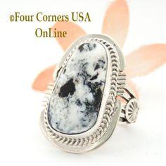 Four Corners USA Online - Size 7 White Buffalo Turquoise Sterling Ring Navajo Artisan John Nelson NAR-1763, $163.00 (http://stores.fourcornersusaonline.com/size-7-white-buffalo-turquoise-sterling-ring-navajo-artisan-john-nelson-nar-1763/)