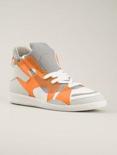 Maison Margiela Geometric Panelled Sneakers
