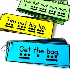 Simple sentences for beginning and struggling readers that include CVC words and beginning sight words. Perfect for pre-k and kindergarten! Reading Centers, Reading Fluency, Reading Intervention, Reading Skills, Teaching Reading, Reading Lessons, Teaching Ideas, Reading Tutoring, Reading Groups