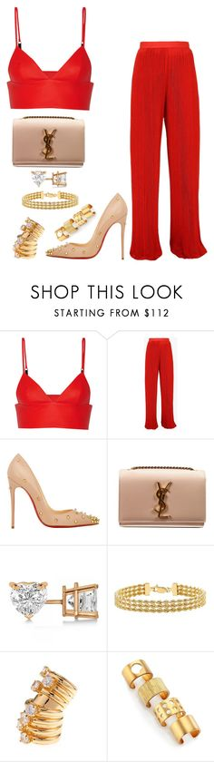 """Untitled #304"" by fashionkill21 ❤ liked on Polyvore featuring T By Alexander Wang, Balmain, Christian Louboutin, Yves Saint Laurent, Allurez, IBB, Maison Margiela and Kelly Wearstler"