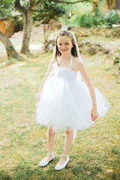 Puffy flower girl dress: http://www.stylemepretty.com/little-black-book-blog/2015/01/30/gastronomic-provencal-wedding-at-auberge-la-feniere/ | Photography: M&J - http://www.mandjphotos.com/