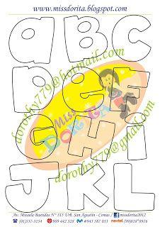 Miss Dorita: Abecedarios Applique Patterns, Applique Designs, Lettering Styles, Hand Lettering, Bubble Letter Fonts, Different Lettering, Alphabet Templates, Love Doodles, Cute Fonts