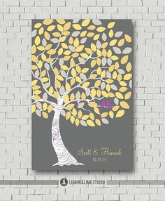 Wedding Guest Book  Signature Tree  Wedding by MarshmallowInkLLC, $40.00