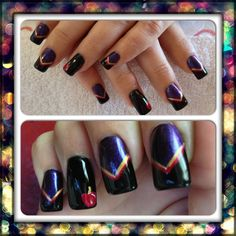 Evil Queen/Snow White inspired nails