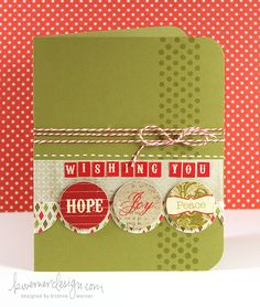 """& now a backwards """"L"""". The background stamp adds great balance to this card. {from kristina werner}"""