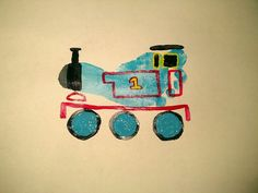 Thomas the train footprint art.muse as guest book Projects For Kids, Diy For Kids, Crafts For Kids, Arts And Crafts, Summer Crafts, Toddler Art, Toddler Crafts, Baby Crafts, Cute Crafts
