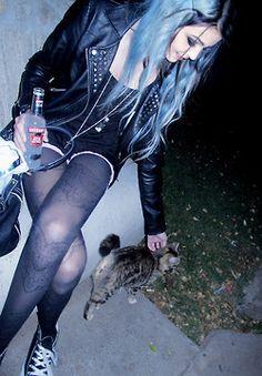 Untitled #midnight -  blue  #perfect -  #indie -  dark -  pastel goth,  black