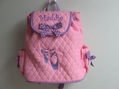 personalized bag for dance backpack style 26.95 on etsy