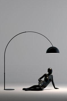 Liseuse en métal noir mat Abat jour en chintz blanc orientable