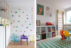 ścianka wspinaczkowa w pokoju dziecka