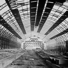 Interior of Grand Central Depot (later Grand Central Station) under construction at 42nd Street and Park Avenue, 1871. (Museum of the City of New York/Getty Images)