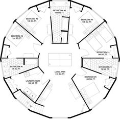 2 Story Sierra - 3360 Total Square Ft - 6 Bedroom - 5 Bath maybe someday Round House Plans, Dream House Plans, House Floor Plans, Little House Living, Octagon House, Circle House, Silo House, Recycled House, Geodesic Dome Homes