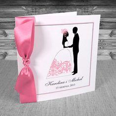 Zaproszenia na ślub z Parą Młodą - Zaproszenia z parą młodą pudrowy róż 3