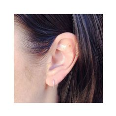 U Earrings #gold #rosegold
