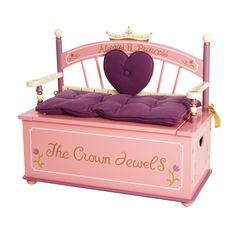 Levels Of Discovery Princess Bench Seat W/ Storage   LOD20007