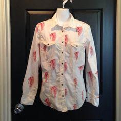 Bar fly Trading Company Western shirt Medium Barn Fly Trading  Medium Western Style snap down shirt Barn Fly Trading Tops Button Down Shirts