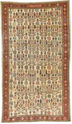 Baktiari carpet, West Persia inscribed: 'farmayesh-e aqa-ye sultan 'ali khan 'amal-e bakhtiyari fi-sanah ('Order of Mr Sultan 'Ali Khan, Work of Bakhtiyari in the year 1316 the patron is unidentified approximately 471 by dated AH 1316 AD) Iranian Art, Aqa, Rug Sale, Auction, Carpet, Rugs, Antiques, People, Prints