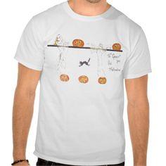 Ghost Jack O Lantern Pumpkin Black Cat T-shirt