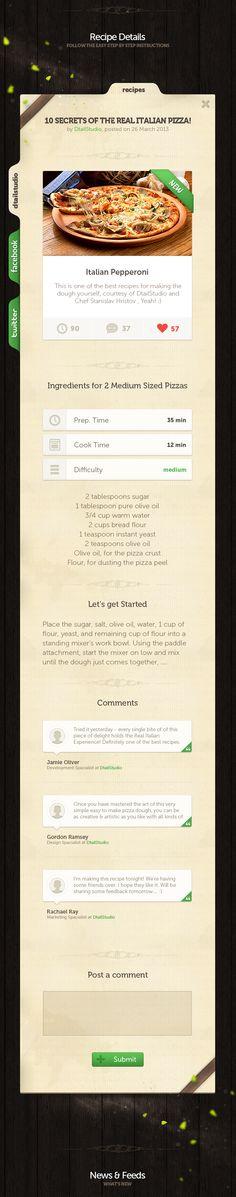 Tabke Cookbook - User Interface by Stanislav Hristov, via Behance