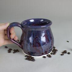 Ceramic Coffee mug BlueRoomPottery pottery cup by blueroompottery