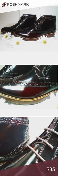 Men's Genuine Leather Oxfords Size 7 & 9 Prices are firm. :) Genuine 100% leather. High Quality rubber sole. High Quality Leather. Shoes are completely new. Color is dark burnt red/brown. The red can look black but under light you can see the beautiful burnt red. I highly recommend this shoe for men who want to look sharp and want a quality shoes at an affordable price. These shoes are from London, UK. primark Shoes Oxfords & Derbys