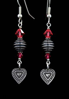 Lovely detailed sterling silver heart earrings Valentine's please!