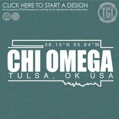 Chi Omega | Chi O | ΧΩ | PR | Spring PR | PR Shirt | TGI Greek | Greek Apparel | Custom Apparel | Sorority Tee Shirts | Sorority T-shirts | Custom T-Shirts