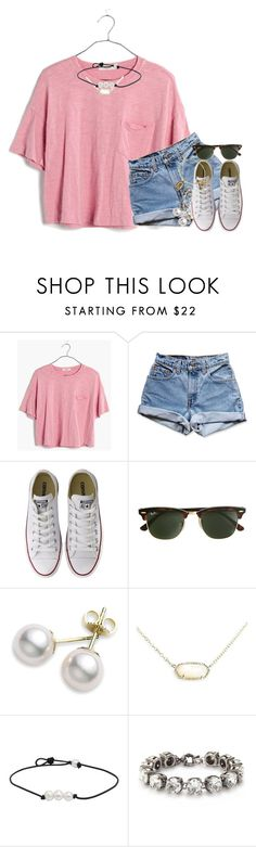 """""""HEY!!! IM BACK!!"""" by kate-elizabethh ❤ liked on Polyvore featuring Madewell, Levi's, Converse, J.Crew, Mikimoto, Kendra Scott and Alex and Ani"""