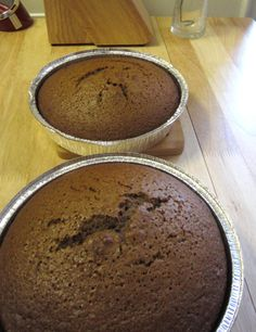 """Nanny's Honey Cake""  6 eggs, 1 1/2 C honey, 1 1/3 C oil, 1 1/4 C hot water with 6 tsp instant coffee, 1/2 C brandy/whisky/scotch,  3 1/2 C flour, 1 1/2 C sugar, 2 tsp baking powder, 2 tsp baking soda, 2 tsp cinnamon, 1 tsp ground ginger, 1 tsp ground cloves, 1 tsp nutmeg, 1 tsp allspice.  Preheat oven to 300. Mix dry and wet ingredients separately, combine afterwards. Place in two ungreased 9"" round pans. Bake for 1 hour."