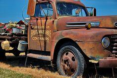 rusty old work truck