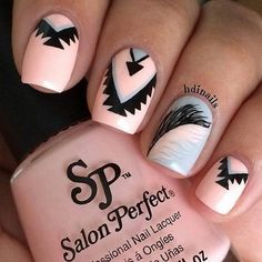 Tropical Tribal Nail Art.Very Nice & Beautiful Looking.