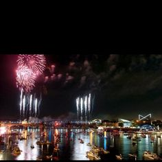 Riverbend fireworks over the Tennessee River - Chattanooga. Gotta find the dates this will be happening! Tennessee River, Chattanooga Tennessee, Visit Tennessee, Downtown Chattanooga, Tennessee Usa, Ohio River, Great Places, Places To See, Beautiful Places