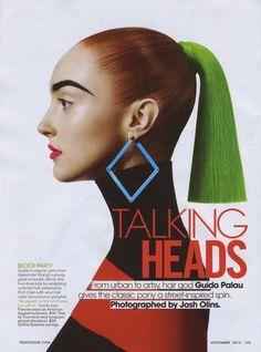 Frances Coombe by Josh Olins for teenVOGUE November 2013   Fashion Editor Sara Moonves   Hair Guido Palau   Make-up artist Susie Sobol.