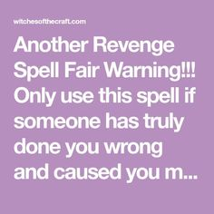 35 Best Revenge spells images | Book of shadows, Witchcraft, Charms
