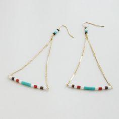 正規販売店♪送料無料♪【RueBelle Designs/ルーベルデザインズ】 Earrings 14k gold filled chain & findings horn カラー/Multi & Gold【楽天市場】