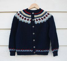 vtg 70's // norwegian sweater // nordic knit // by foxandrook, $52.00