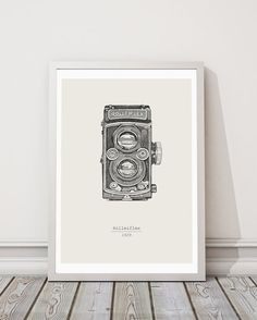 Macchina fotografica d'epoca Rolleiflex stampa di INKSdecor