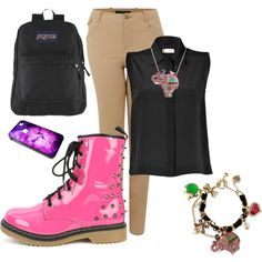 "Someone made a ""Savannah Arts Academy Uniform"" collection on polyvore. HAhahahaha."