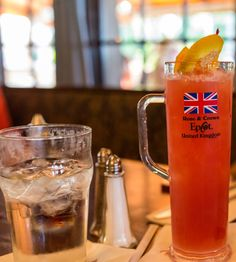 Recipe English Rose Cocktail from the Rose & Crown in the United Kingdom Pavilion at EPCOT Disney Recipes, Disney Food, Rose Cocktail, Rose Crown, Cranberry Juice, English Roses, Pineapple Juice, Epcot, Pavilion