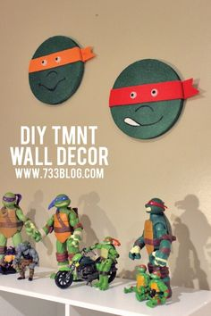 DIY TMNT Wall Decor #makeitfuncrafts