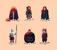 Funny Ilustrations from Game of Thrones characteres