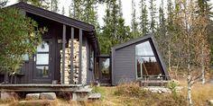 Sjekk det spenstige nye tilbygget på den tradisjonelle hytta i Hedalen