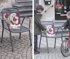 Sooo Cool!! Embroidery on outdoor items like chairs! Check it our at: http://www.welovefrenchknots.com/2012/06/street-embroidery.html?utm_source=feedburner_medium=feed_campaign=Feed%3A+welovefrenchknots+%28welovefrenchknots%29