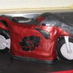A Motorcycle Theme Cake.