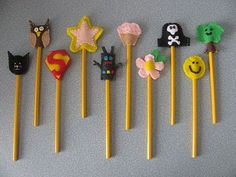 Make some of their favorite things or characters for their pencils. Maybe give them a special new one on test days.