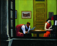 Edward Hopper - Room in New York - 1932 - Sheldon Museum of Art, University of Nebraska ␣ Lincoln, UNL-F.M. Hall Collection